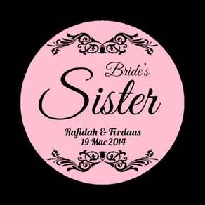 Cetak Button Badge Majlis Kahwin Pelbagai