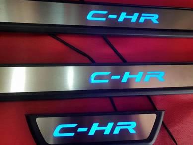 Toyota chr C-HR c-hr led kick scuff sill plate led