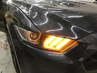 Ford mustang Head lamp DRL modify GT350 bodykit