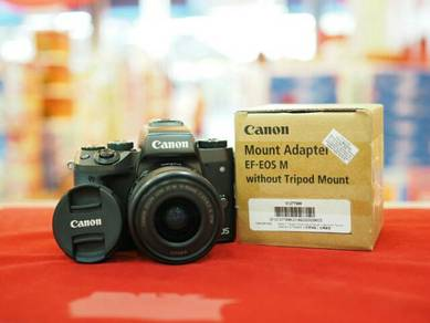 Canon eos m5 (15-45mm) +ef adapter