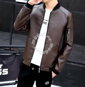 8847 Dark Color DesignSynthetic Leather Jacket
