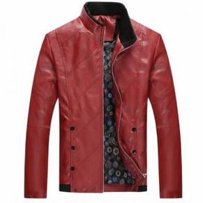 8842 Casual Zipper Synthetic Leather Comfy Jacket