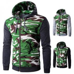 6213 Camouflage Slim Fit Sweater Jacket