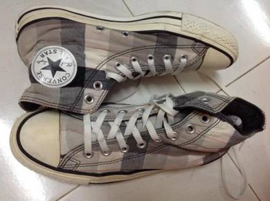 Converse checked hi-cut 7.5uk