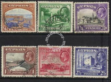 Cyprus kgv 1934 definitives cat 8+ bj227
