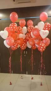 White red helium balloon Negeri Sembilan