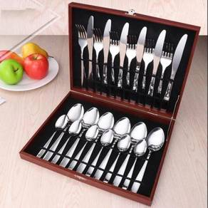 Hotel Series 24 Pieces Stainless Steel Cutlery Gif
