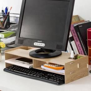 Wooden monitor riser / desktop table 03