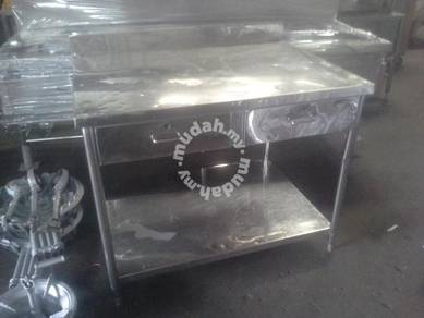 Table stainless steel with drawer