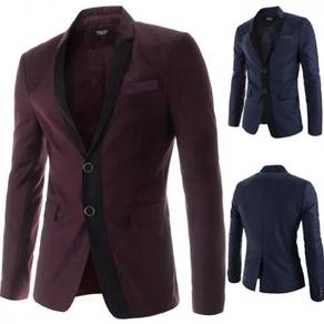 6450 Lapel Long-Sleeved Two Button Suits Coat