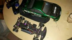 Rc drift carbon fiber chasis and part aloy
