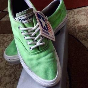 Vtg converse skidgrip green neon