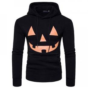 8540 Face Design Printed Casual Hoodie Sweater