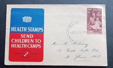 FDC New Zealand 1950 : Health Stamps