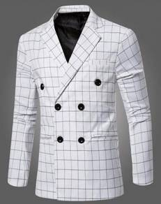 6166 Men's Double-breasted Small Suit Coat