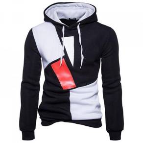8448 Color Shape Design Casual Hoodie Sweater