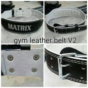 Leather weight lifting belt / gym belt 08