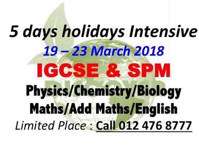 SPM & IGCSE Holidays Intensive Courses