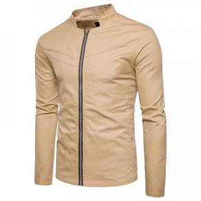 8890 Simple Solid Color Jacket Outfit