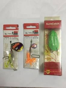 DAM Lure Fishing Spinner Spoon Gewang Frog Casting
