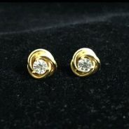 Just Magic Earrings in gold tone