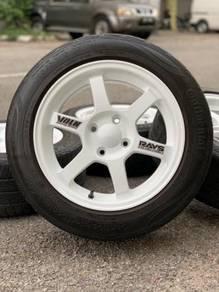 Te37 thailand 15 inch sports rim myvi tyre 70%