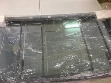 Freezer sliding glass ly450gts snow