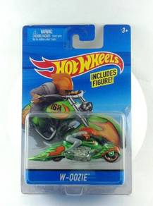 Hotwheels Motorcycle with Rider - W-Oozie Green