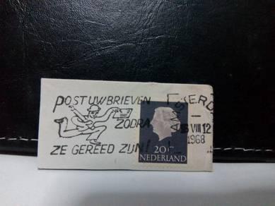 1965 Netherland Stamp, Queen Juliana