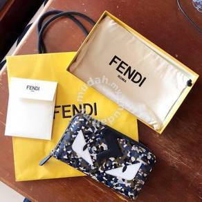 Fendi Bag Bugs Zip-around Long Wallet