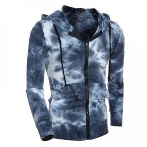 6372 Men's Casual Cardigan Zipper Hooded Sweater
