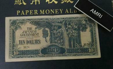 Duit lama 10 Dollar JIM Malaya