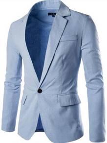 5129 One Button Casual Linen Suit Coat Jacket
