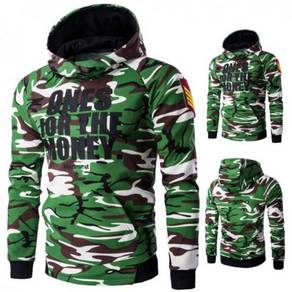 6150 Casual Camouflage Printed Hooded Sweater