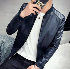8849 Color Casual Comfortable Leather Jacket