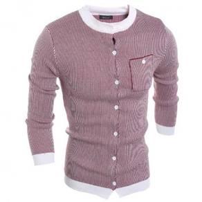 6495 Slim Fit Stripe Men's Knit Cardigan Sweater