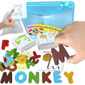 Alphabet Learning Cards With Blocks