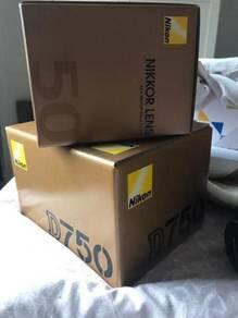 Nikon D750 24.3MP Digital SLR Camera Black