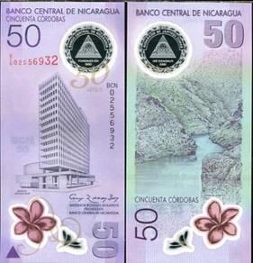 Nicaragua 50 cordobas 2010 polymer p 207 unc