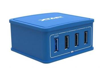 Xtar 4U 27W 4 Port Hub Charger Blue