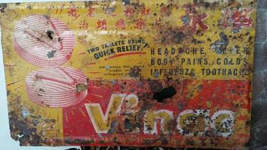 Tin sign Vinac