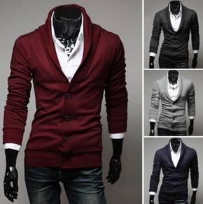 6363 Retro V-Neck Long-Sleeved Knit Sweater Coat