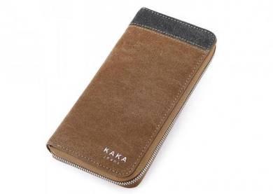 KAKA Premium PU Leather Long Wallet Purse Beg Duit