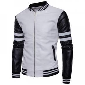 8893 Stitching Stripes Baseball Jacket