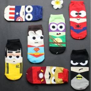CARTOON MARVEL DC SUPERHERO SHOES SOCKS 🔥
