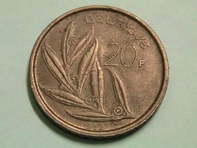 Belgium 20 Francs 1982