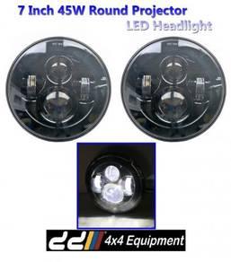 2 x 7 45W Round CREE LED JIMNY L049 Jeep 4WD 4X4