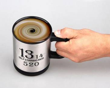 Self stirring mug small