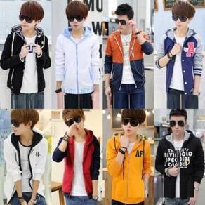 10435 Korean Fashion Zipper Hooded Sweater Jacket