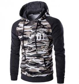 6182 Men's Camouflage Pockets Hooded Sweater